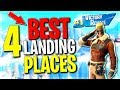 Top 4 Best Places to Land for EASY WINS | Fortnite