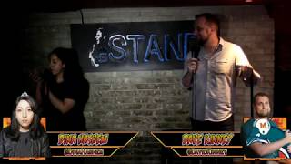 Download Shy deadpan girl viciously defeats a big loud guy in a NYC comedy roast battle Mp3 and Videos