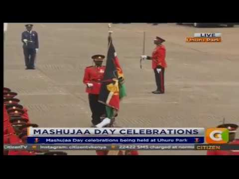 Colourful  military parade during Mashujaa Day Celebrations 2017[8th edition]