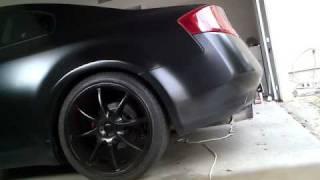 matt black skyline 350gt with hks exhaust mp4