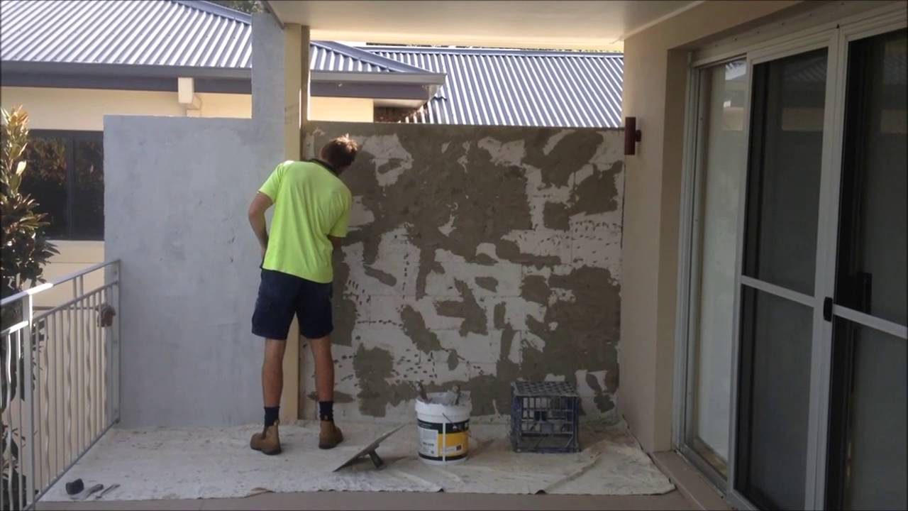 Rendered Hebel Wall Restoration Central Coast Rendering