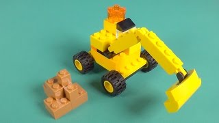 """Lego Digger Building Instructions - Lego Classic 10698 """"How To"""""""