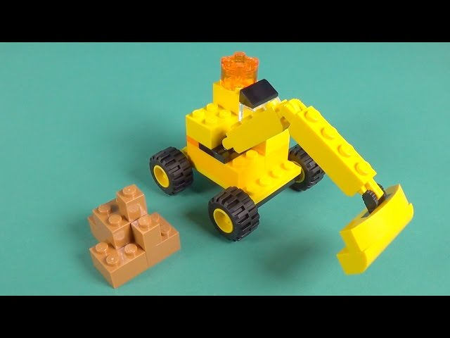 Lego Digger Building Instructions - Lego Classic 10698