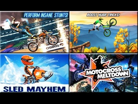 Motocross Meltdown / Sled Mayhem / Bike Mayhem Mountain Racing  Games for Children /Android HD