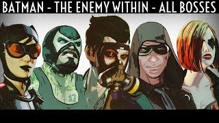 Batman Telltale Season 2 All Bosses / All Boss Fights The Enemy Within