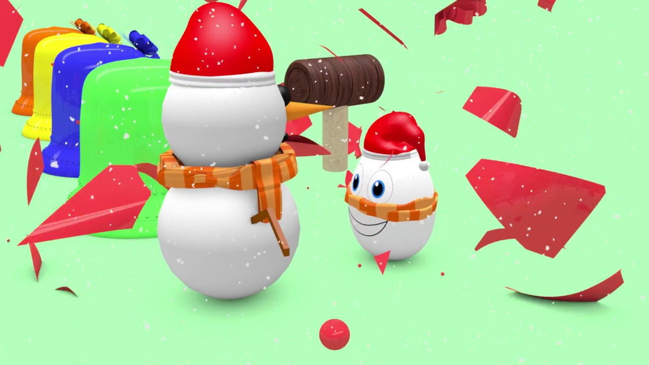 🎄Learn Colors Christmas egg surprise hammer 🎄Learn Number 3D ...