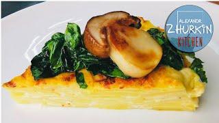 Картофельный гратен с сыром Гарнир из картошки Рецепт вкусного гратена Картофельная запеканка