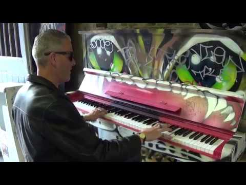 AMAZING BLUES JAM ON A STREET PIANO
