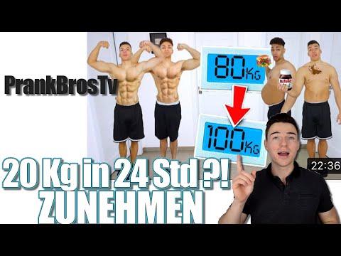 20 Kg in 24 Stunden ZUGENOMMEN ?! REAKTION prankbrostv