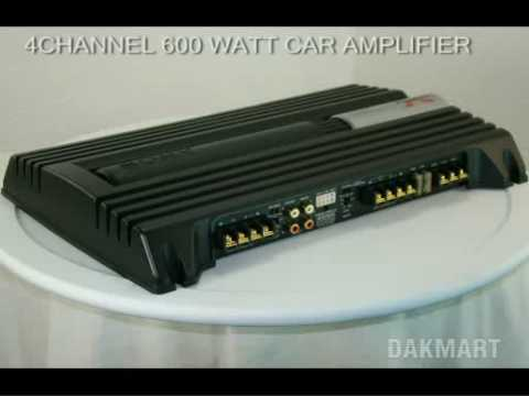 Sony Xplod Xm-Zr604 4-Channel 600 Watt Car Amplifier - Xmzr604 - YouTubeYouTube