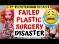 DESTROYED EXPENSIVE DOLLS FACE / FAILED PLASTIC SURGERY FOR MONSTER HIGH / HOW TO SCULPT DOLL HEAD