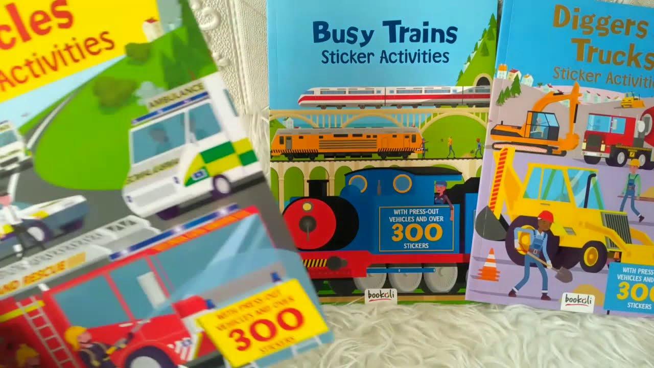 PROMO Paket Bundling Beli 3 buku Vehicles Sticker Activities SUPER ...