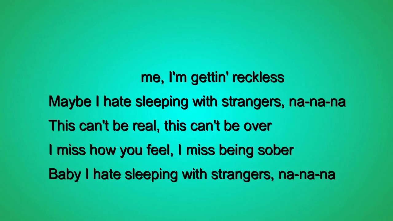Sleeping With Strangers Lyrics