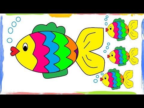 HOW TO DRAW FISH IN MS PAINT - Hướng dẫn vẽ  con cá cực dễ  MS Paint  - Tin học Tiểu học