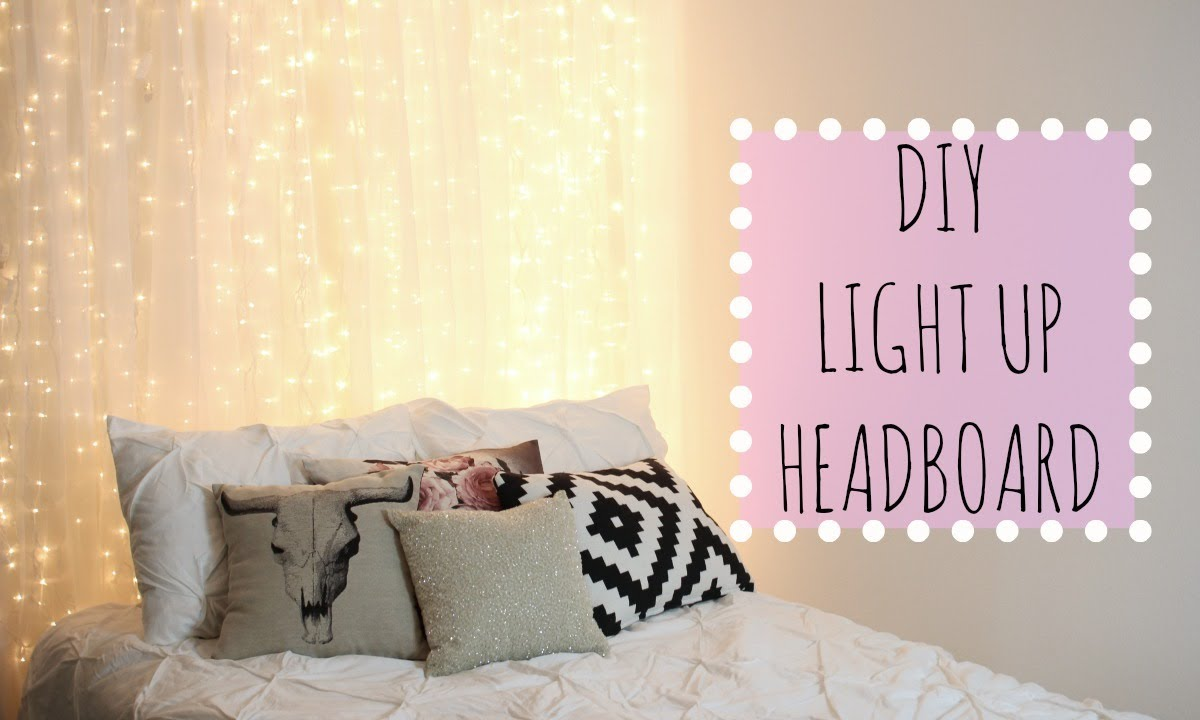 How To Make Curtain Lights Diy Light Up Headboard Affordable Room Decor