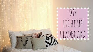 DIY Light Up Headboard! Affordable Room Decor
