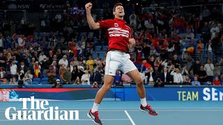 Novak Djokovic leads Serbia to victory over Spain in ATP Cup