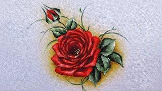 Como pintar rosa vermelha