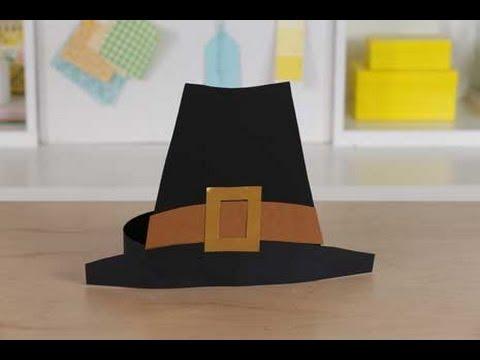 Thanksgiving Kidsu0027 Craft Pilgrim Hat & Thanksgiving Kidsu0027 Craft Pilgrim Hat - YouTube
