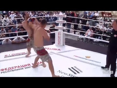 Олег Попов vs Адам Богатырев highlights, M-1 Challenge 95