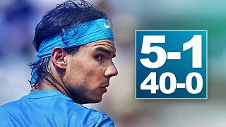 The Day NADAL Won a Set After Being 5-1 40-0 Down