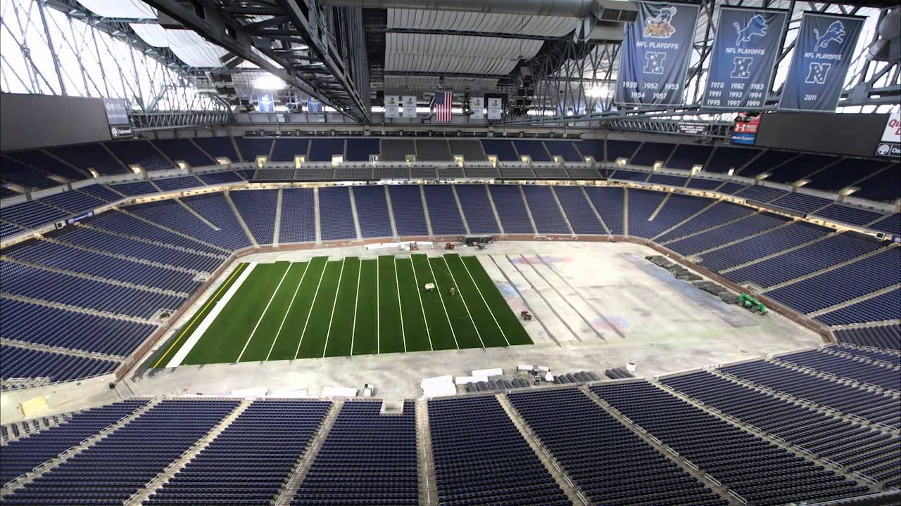 Ford Field Fieldturf Time Lapse Youtube