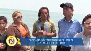 09 21 DISTRITO HUAURA faena de limpieza playa centinela - surf point