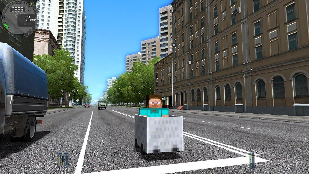 City Car Driving 1 5 3 Minecraft Car Trackir 4 Pro 1080p Youtube