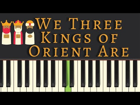 Easy Piano Tutorial: We Three Kings of Orient Are, with free sheet music