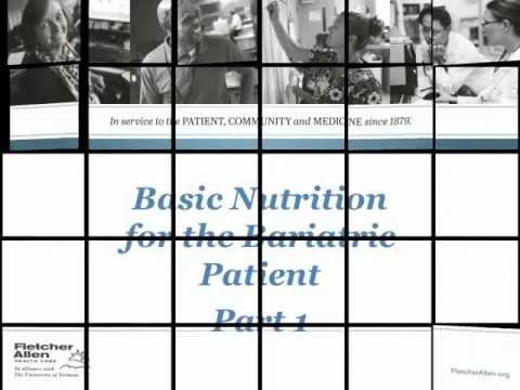 Basic Nutrition for the Bariatric Patient, Part 1
