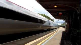 Virgin Trains at full speed and tilt through Berkhamstead 10/07/12