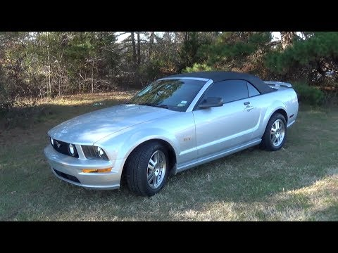 2006 Ford Mustang Gt Convertible Startup Exhaust Tour Test Drive