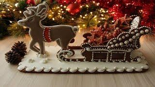 Новогодняя Пряничная Упряжка / Noel Kurabiyesi Yapılışı / Christmas Sleigh