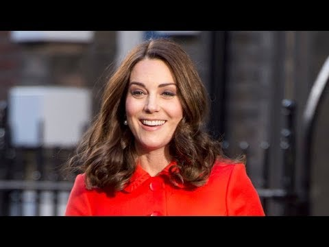 Pregnant Kate Middleton Continues Her Chic Coat Streak in Scarlet Number