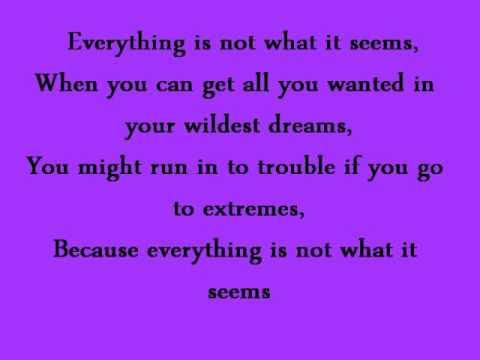 Everything Is Not What It Seems - Selena Gomez - Lyrics