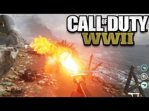 Call of Duty WW2 Multiplayer Gameplay & Impressions at E3 (CoD WW2 Sniper, Flamethrower, M1 Garand)