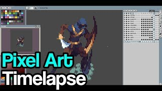 Pixel Art Timelapse: Outlaw Vanish Animation in The Iron Oath