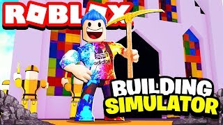ROBLOX BUILDING SIMULATOR #2 GOLDEN CHURCH? | LET'S PLAY | GAMING WITH JERRY