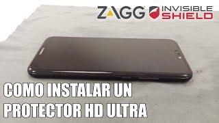 Como instalar un protector de pantalla ZAGG Invisible Shield HD Ultra