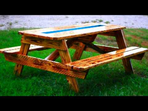 Beer Gutter Picnic Table - YouTube