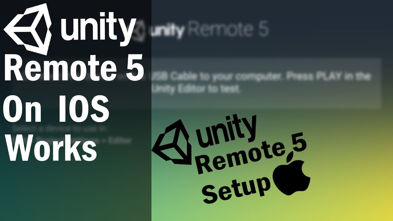 How To Test Your Unity game On IOS (Unity Remote 5 FIX)!!!