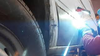 Mercedes Sprinter door rusty repair No Problem !!!