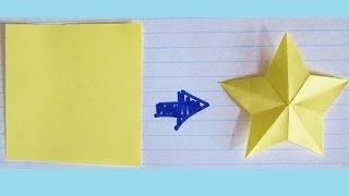 How to Cut a Star with ONE CUT from a Square - Perfect Star for Paper & Fabric Scrapbooks