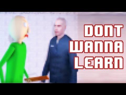 [SFM Baldi] Don't Wanna Learn 8- Bit Remix (Baldi's Basics in Education And Learning Song)
