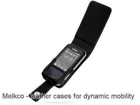Melkco Tasche Leder Etui cuir ~Toshiba Portege G810 Flip type (Black)