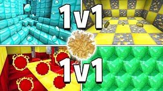 BRAND NEW MINECRAFT 1V1V1V1 TUMBLEWEED MINIGAME - WILD WEST LUCKY CHALLENGE