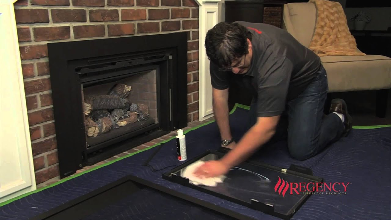 how to clean the glass on regency lri hri gas inserts with rh youtube com