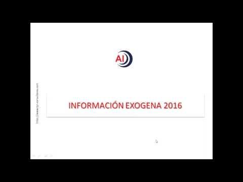 Información Exógena 2016-2017