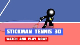 Stickman Tennis 3D · Game · Gameplay