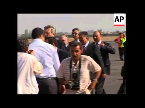 Protests as president arrives for football diplomacy visit